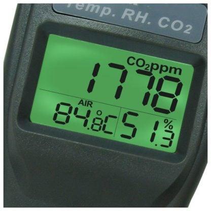 Kannettava sisäilmanlaadun tarkkuusmittari AO1-77535 (CO2, TEMP, RH, DPT, WBT) (A01-77535) - 3