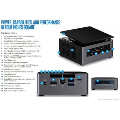 Intel NUC7i7BNH mini PC runko (BOXNUC7I7BNH) - 5