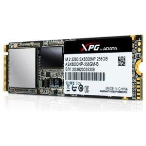 ADATA SX8000 256GB 3D NAND SSD M.2 PCIe Gen3x4 (ASX8000NP-256GM-C) - 5