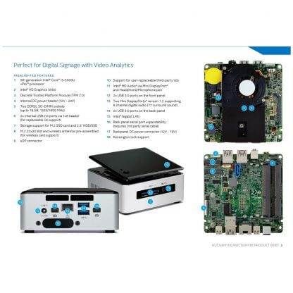 Intel NUC5i5MYHE (vPro) mini PC runko (BLKNUC5I5MYHE) - 4