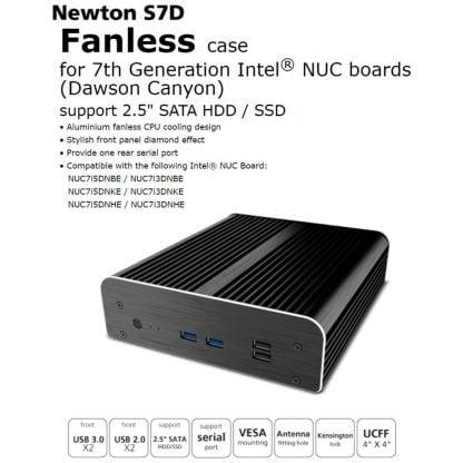 Akasa Newton S7D passiivinen NUC kotelo (A-NUC38-M1B) - 3