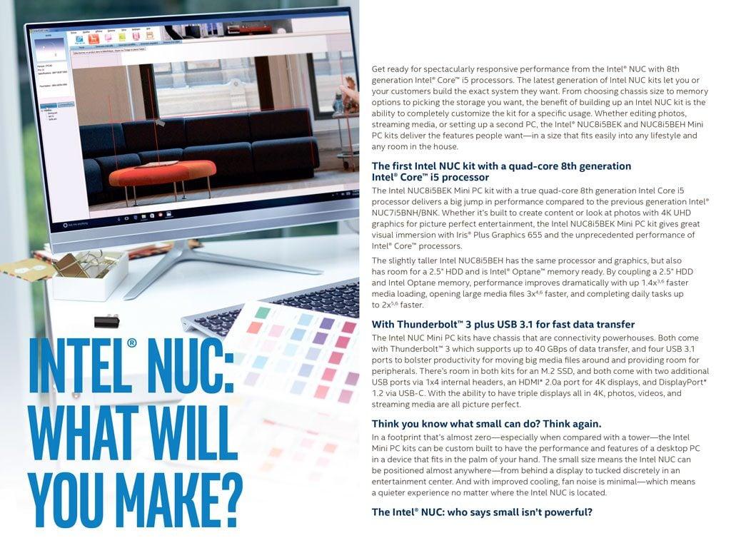 Intel NUC8i5BEH Mini PC runko