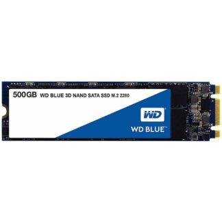 WD Blue 500GB 3D TLC SSD M.2 PCIe SATA3 (WDS500G2B0B) - 1