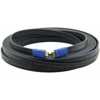 Kramer C-HM/HM/FLAT/ETH HDMI 2.0 harmaa litteä näyttökaapeli 7.6m (97-01014025) - 1